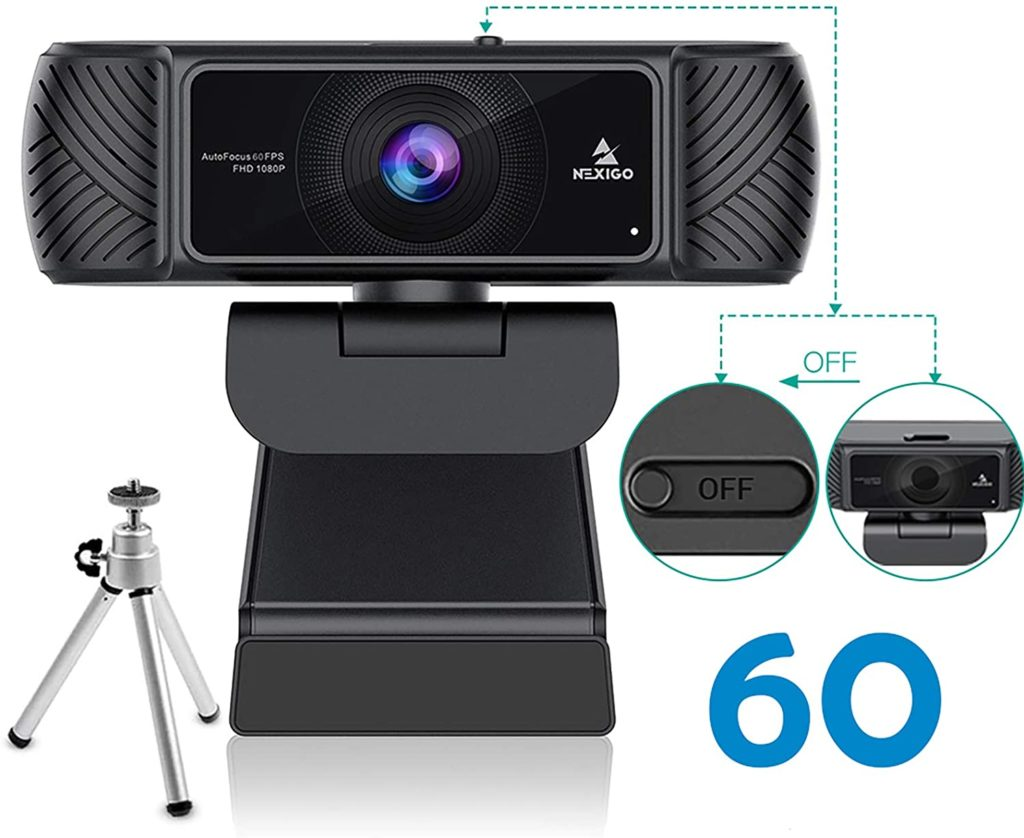 The package comes with the webcam nexigo and user manual