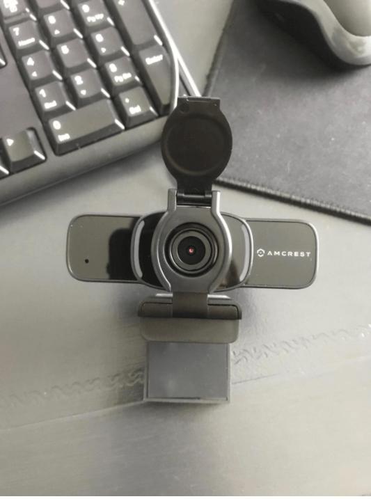 unboxing the amcrest webcam