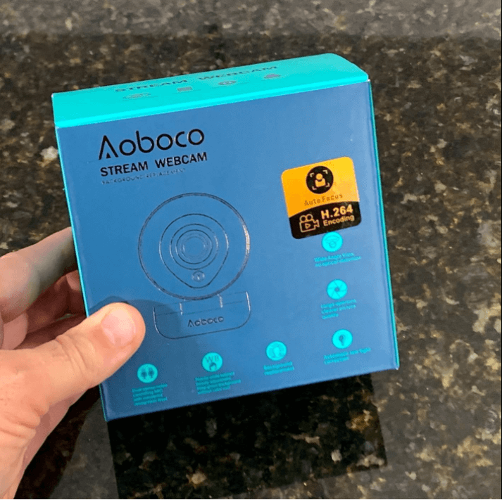 unboxing the aoboco webcam