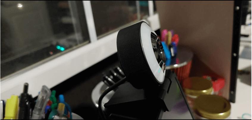 aoboco webcam setup with the computer