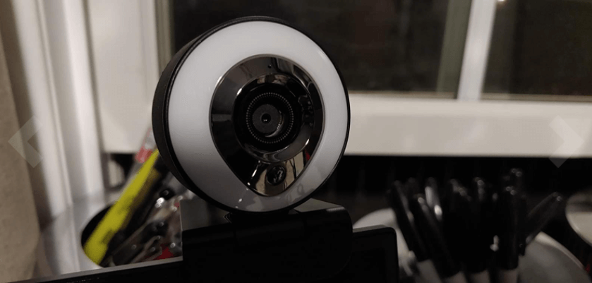aoboco webcam with ring light