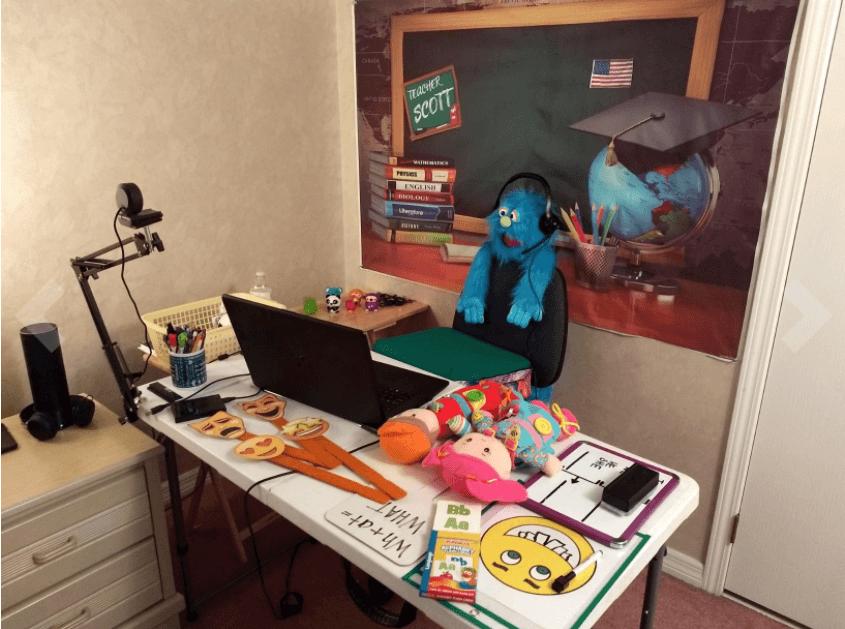 aoboco webcam setup with tripod
