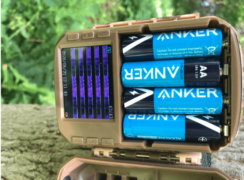 campark t20 setup with battery