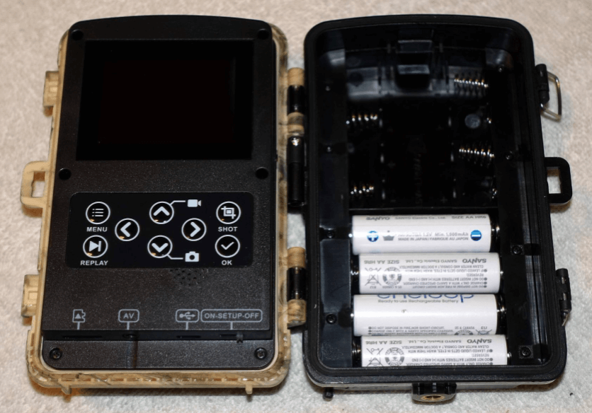 Lithium batteries powering my Campark T80