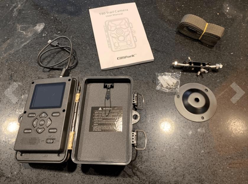 campark t80 trail camera setup and test