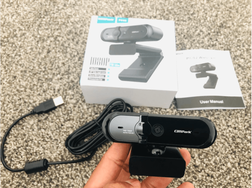 unboxing the campark webcam
