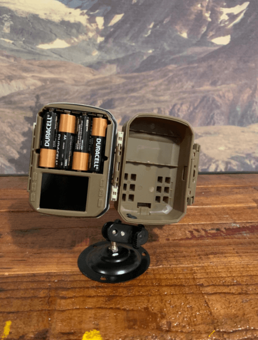 campark t20-1 setup with battery