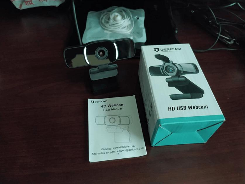 unboxing the dericam webcam