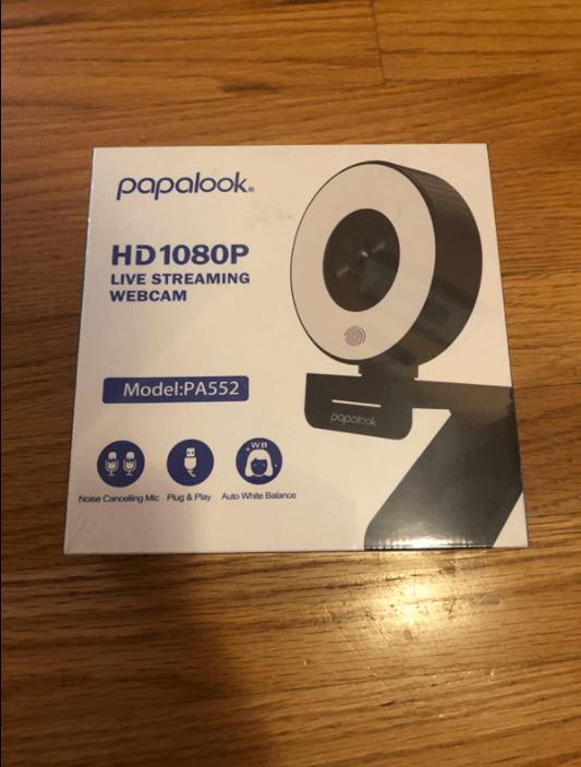 Unboxing the papalook webcam