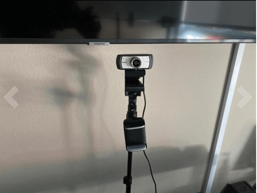 spedal webcam setup with tripod