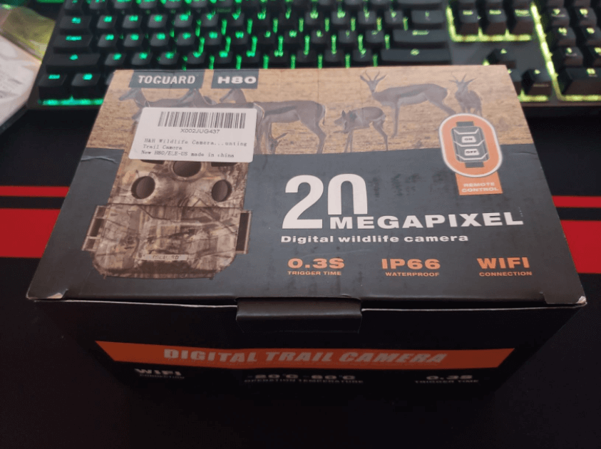 unboxing the toguard h85 trail camera