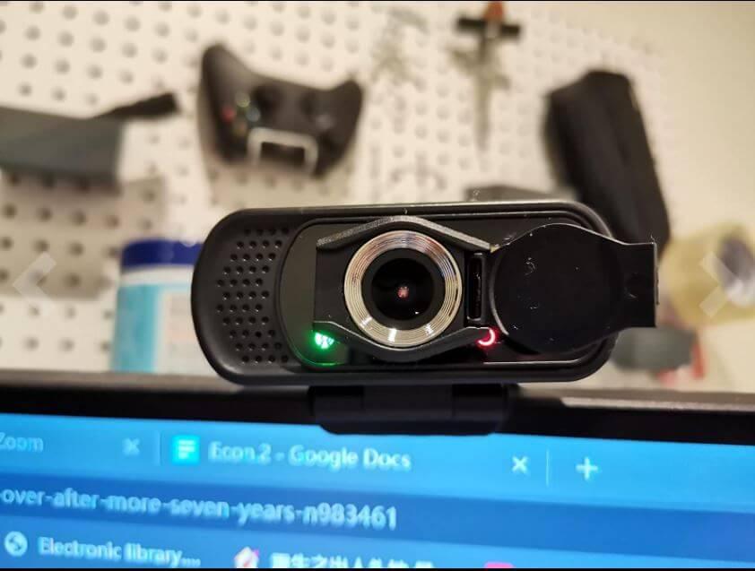The tolulu webcam setup with the computer