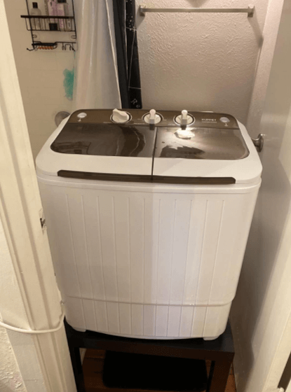 Design of the kuppet compact twin tub