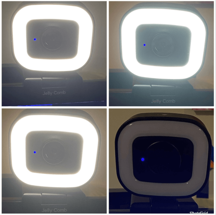 jelly comb webcam with ring light