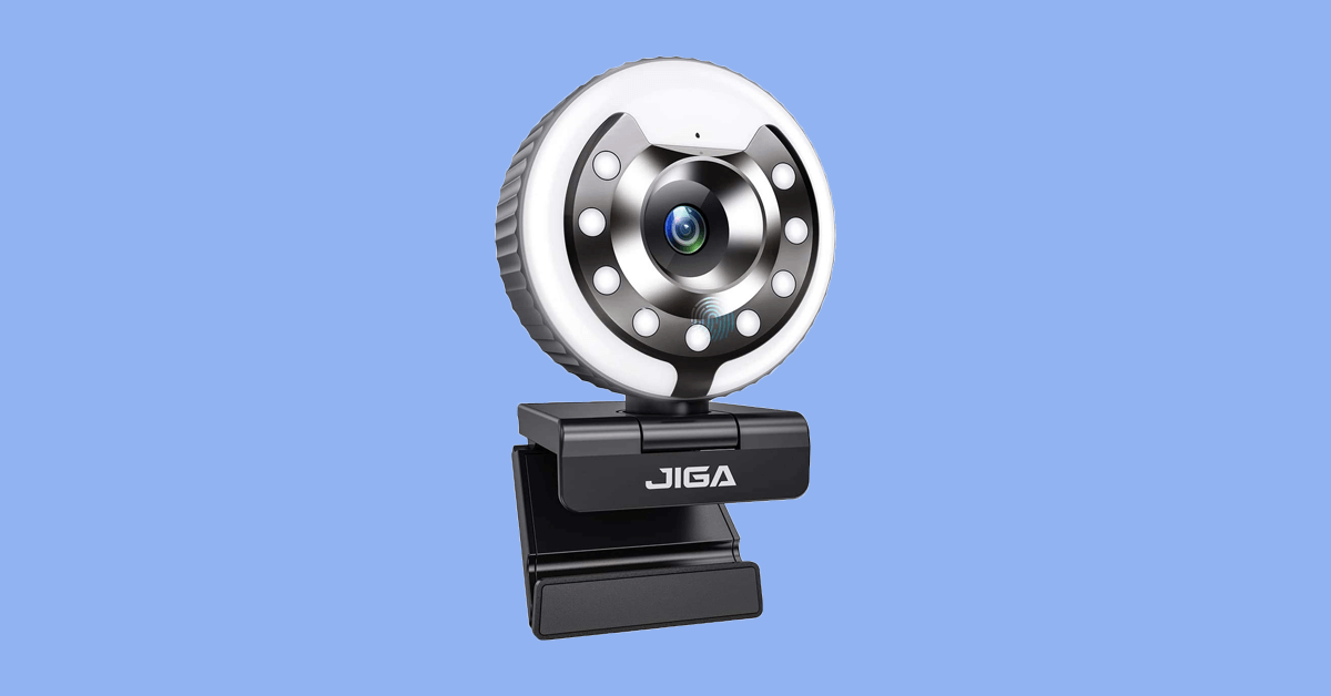 jiga webcam with ring light review