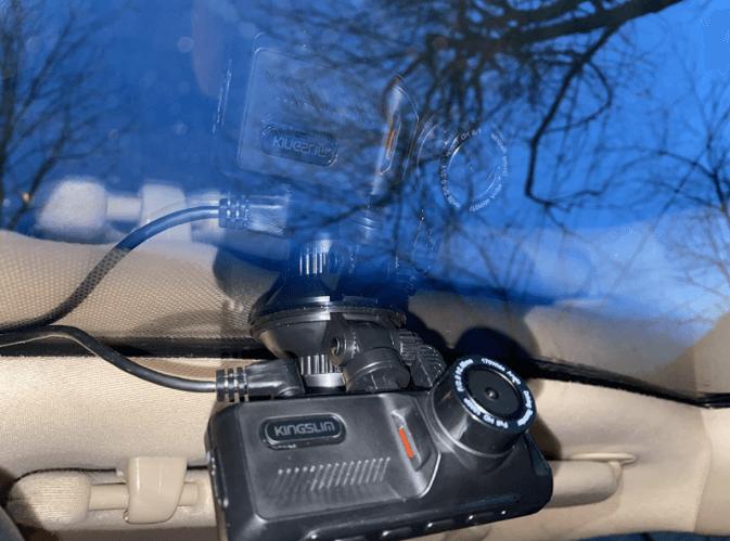 kingslim d1 pro dual dash cam setup